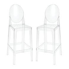 Vanish Clear Acrylic Furniture Bar Stools Set Of 2