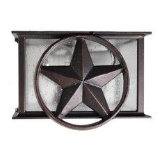 Americana Lone Star Flush Mount, Old Bronze