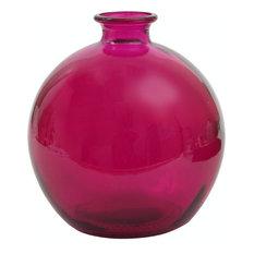 Couronne Co. 66 oz Ball Glass Vase, Fuchsia
