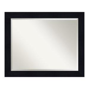 Shiplap Navy Wood Bathroom Mirror, 32