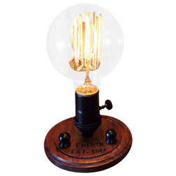 Beautiful Industrial Table Lamps by Timberson