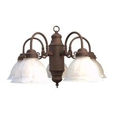 "Woodbridge Lighting 10002-ABZ Builder's Choice 5 Light 24"" Wide Single Tier Cha"