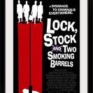 """Lock Stock and 2 Smoking Barrels (1998)"" Black Framed Art Print, 28""x38""x1"""