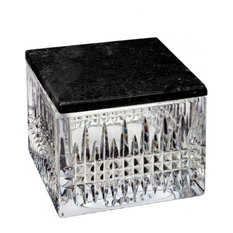 Waterford Lismore Diamond Covered Box With Marble Lid