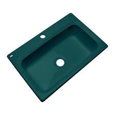 Clemente 1-Hole Kitchen Sink, Teal