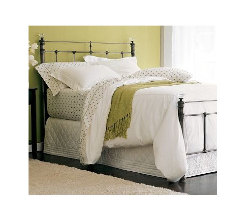 Claudia Metal Bed Queen Antiqued Pewter Finish More Info