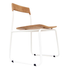 Bowery And Grand BG1121 Matte White Chair Baker
