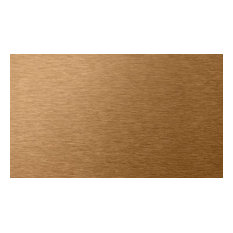 "6""x3"" Peel and Stick Backsplash Metal Subway Wall Tiles, Copper, Set of 100"