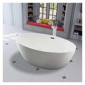 """Vanity Art Freestanding Acrylic Bathtub, 39.5""""x69"""""""