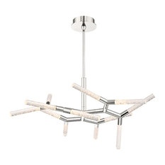 "Modern Forms Kryptonite 32"" LED Chandelier in Polished Nickel"