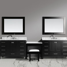 """Two London 48"""" Single Sink Vanity Set in Espresso Finish With One Make-up Table,"""