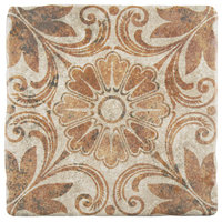 "7.75""x7.75"" Gavras Arena Decor Ceramic Floor/Wall Tiles, Dahlia"