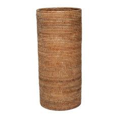 Artifacts Trading Company Rattan Round Umbrella Basket