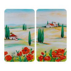 Toscana Glass Hob Covers, Set of 2