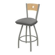 830 Voltaire 36-inch Swivel Counter Stool Natural Back And Graph Alpine Seat