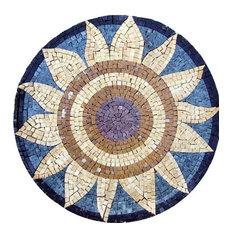"Medallion Mosaic Designs, The Sunflower, 12""x12"""