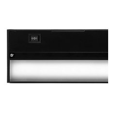 "NICOR NUC-4-12-HL-W-BK Hardwired Hi/Low/Off 12"" Slim Undercabinet Light"