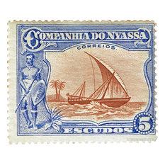 """""""Companhia Do Nyassa"""" Stamp Print"""