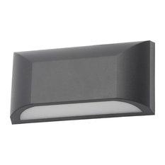 Truro Outdoor LED Rectangular Down Wall Light, Black