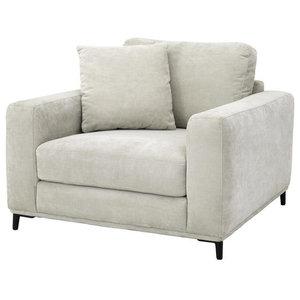 "Beige Cubic Lounge Chair | Eichholtz Feraud, beige, 42""W x 40""D x 32""H"