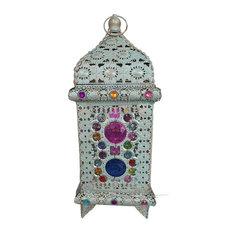 Grey Coloured Jewel Table Lamp