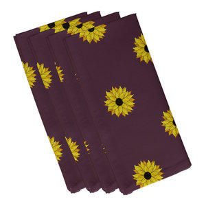 Sunflower Frenzy Flower Print Napkin Set Of 4 Farmhouse Napkins By E By Design