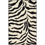 Luxury Rugz - Animal Inspirations Rectangle Area Rug 5'x8' WIld Collection, Zebra Creme - Paint your home in safari vibes with the Wild collection. Featuring wild animal safari-inspired motifs, this collection brings a little bit of rugged chic to any space. Each rug in the Wild collection bears a pattern unique to wild animals. Corral this collection and make a bold aesthetic that knows no boundaries.