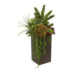 Succulent Artificial Plant in Brown Planter