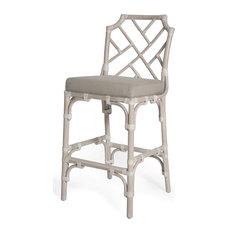 Kenian Palm Beach Chippendale Bar Chair Linen Bar Stools And Counter Stools