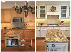 Great color of cream to paint kitchen cabinets to go w ...