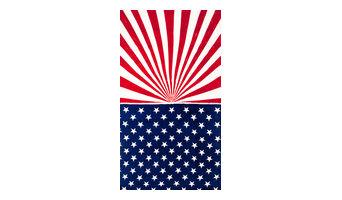 Vintage America Flag Velour Beach Towel