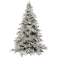 Vickerman Flocked Utica Fir Tree, 12', Warm White Led Lights