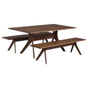 "Audrey 72"" Dining Table by Copeland Furniture, Natural Walnut"