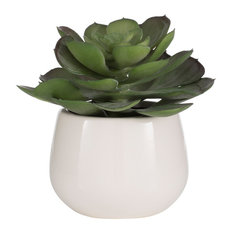 Aufora - Potted Succulent Green Plant - Artificial Plants and Trees