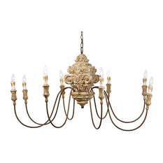 Whitewashed carved wood chandeliers houzz regina andrew design wood carved chandelier chandeliers aloadofball Gallery