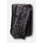 """Loloi Rugs - Zora Throw Blanket, Black and Gray, 4'2""""x5' - The Zora Throw Blanket is a thick, luxuriously soft throw perfect for cool evenings. This piece is machine-woven of 100% acrylic."""