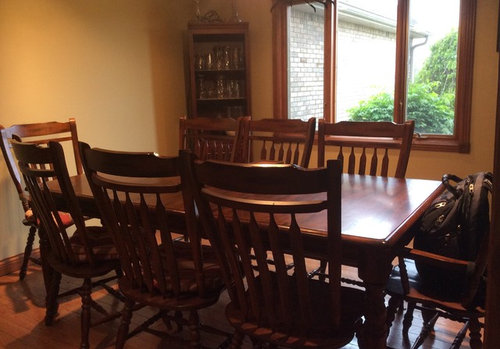 What Color To Paint Dining Room With Honey Oak Wood Trim