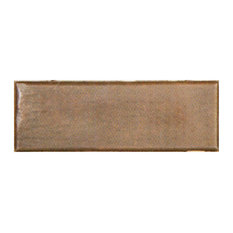 "Copper Crafted Tile Runner 6""x2"", Simple Hammered Design"