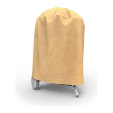 Budge All-Seasons Budge All-Seasons Waterproof Round Smoker Grill Cover Tan