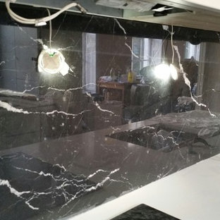 City of London apartment in Negro Marquina marble