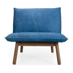Cantor Leather Lounge Chair, Finish: Shiitake, Leather: Flint