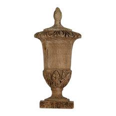 Bernard Wooden Decorative Urn