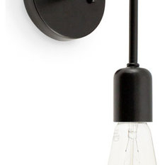 barn light electric company the downtown minimalist plugin sconce white and black