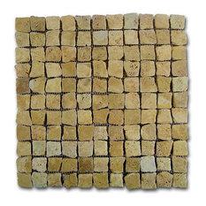 rstico mosaico travertino rustic gold 30x30cm baldosas y azulejos para paredes y suelos