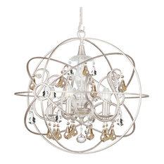 Crystorama Lighting - Crystorama Solaris 5-Light Gold Crystal Silver Sphere Chandelier - Chandeliers