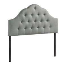 Hawthorne Collection King Tufted Panel Headboard In Gray