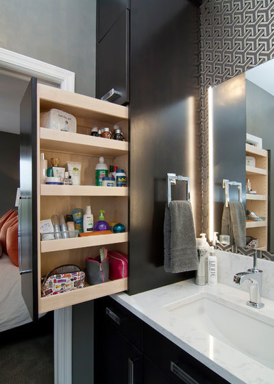 Transitional Bathroom by College City Design Build