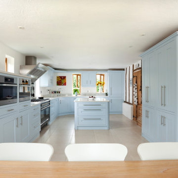 Modern Kitchen With Traditional Colours