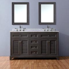 Madison 60 Bathroom Vanity Distressed Gray