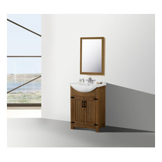 24-inch Weathered Gray Sink Vanity No Faucet